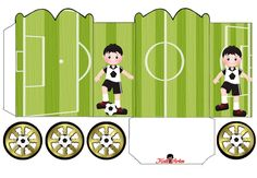 Soccer: Princess Carriage Shaped Free Printable Boxes.