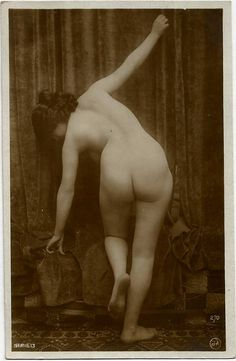 1920s ORIGINAL Erotic Butt RPPC  / Erotic Nude Sexy