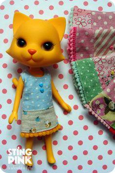 A Line Dress Odeco Chan & Nikki Cat. $11.00, via Etsy.