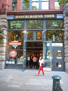 Entrance to the Seattle Underground Tour in Pioneer Square http://pnwtravels.hubpages.com/hub/seattle-underground-tour