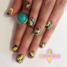 I Scream Nails - Melbourne Nail Art : Photo Sunflower Nails, Nail Plate, Diy Nail Designs, I Scream, Autumn Nails, Artificial Nails, Diy Nails, Natural Nails, Long Nails