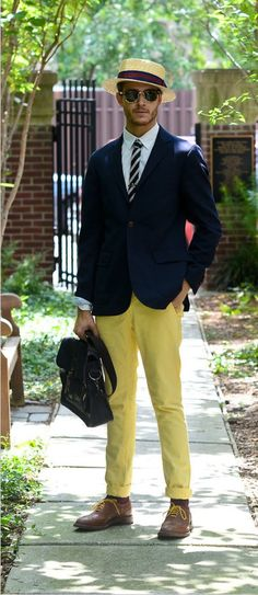 I love the pants and jacket. Color is awesome. The hat is a little odd but he can work it.