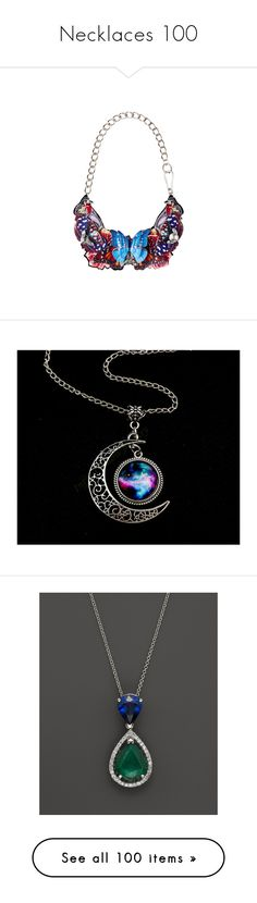 """""""Necklaces 100"""" by singlemom ❤ liked on Polyvore featuring jewelry, necklaces, accessories, colares, charm jewelry, graduation necklace, galaxy jewelry, galaxy necklace, charm necklace and sapphire necklace"""