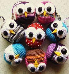 Crocheted owls ornaments -so cute!