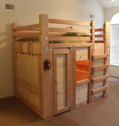 DIY Bed Fort Plans - PalmettoBunkBeds.com