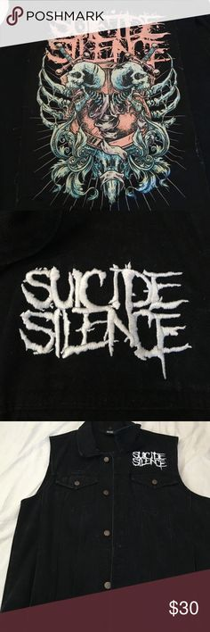 Suicide Silence black vest. Black Suicide Silence vest. Patch on back and logo on the front of the vest. In very good condition. Hot Topic Jackets & Coats Vests
