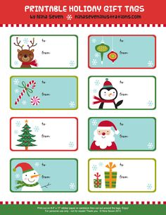 Be Different...Act Normal: Free Printable Gift Tags [Christmas]