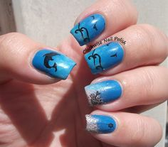 More Ocean Nails - StampAholics ST01 stamping plate