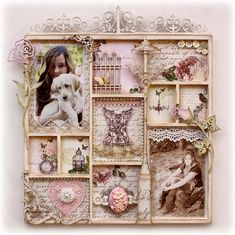 Shabby-chic Wall decor made by Gabrielle Pollacco for Websters Pages & Dusty Attic Design Teams
