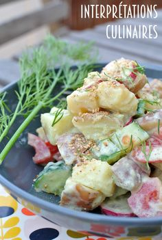 salade patates aneth à la scandinave moutarde et sirop d'érable
