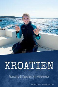 Kroatien = perfekte Destination für einen Roadtrip und Tauchen im Mittelmeer! #Kroatien #RoadTrip #Tauchen #Mittelmeer #BucketList Wanderlust, Reisen In Europa, Roadtrip, Camper Van, Snorkeling, Van Life, Scuba Diving, Wetsuit, Nationalparks