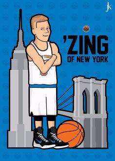 Kristaps Porzingis 'Zing of New York' Illustration