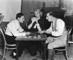 Buster on the set of Speak Easily with Thelma Todd and Jimmy Durante.    I want some pince-nez. Teddy Roosevelt style.