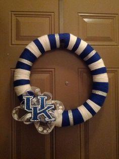 University of Kentucky wreath! GO CATS! GO CATS! GO BIG BLUE! :)