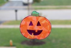 """Halloween Crafts for Kids: No Mess """"Stain Glass"""" Decorations - Ed of a SAHM Autumn Activities For Kids, Halloween Crafts For Kids, Holidays Halloween, Holiday Crafts, Halloween Stuff, Preschool Ideas, Halloween Treats, Holiday Ideas, Fun Crafts To Do"""
