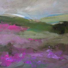 """purple flowers"" original fine art by Parastoo Ganjei"
