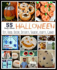 Halloween ideas made EASY, Halloween crafts recipes decor and more all SUPER EASY, SImple Halloween party ideas, Healthy Halloween recipes, side healthy halloween recipes Halloween Snacks, Halloween Treats For Kids, Easy Halloween Decorations, Easy Halloween Crafts, Halloween Games, Scary Halloween, Halloween Pumpkins, Little Girl Halloween, Recipe For Mom