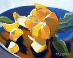Peeled Tangerine by Leigh-Anne Eagerton, oil painting.