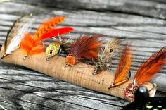 Redfish Flies. A deceiver, SEAducer, Spoon fly, and shrimp patterns