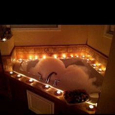 Bathroom Romance romantic bathroomtoo come home to thiswow. someone would be