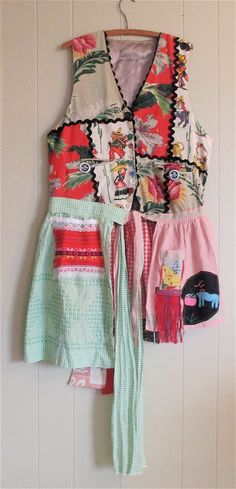 MyBonny Southwestern Mexico Mexican Senorita --Altered Couture - Fiesta Wear --Embroidery - Folk Art