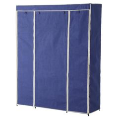 Sunbeam 18 in. x 67 in. Navy Storage Closet Portable Wardrobe with Shelf-SC01507 - The Home Depot Closet Drawers, Closet Storage, Extra Storage Space, Storage Spaces, Portable Wardrobe Closet, Clothes Drying Racks, Garment Racks, Vinyl Cover, Steel Frame