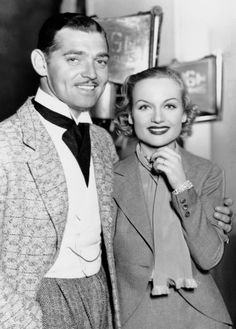 Clark Gable & Carole Lombard attend a party, 1937