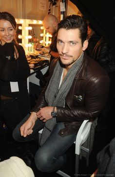 Image detail for -LONDON, ENGLAND - FEBRUARY 18: Model David Gandy poses backstage during Naomi Campbell's Fashion For Relief Haiti London 2010 Fashion Show at Somerset...