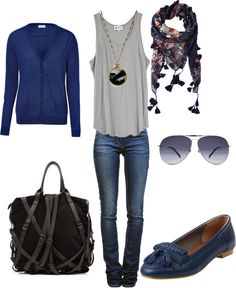 """""""Two-Pocket Cardigan by AMERICAN VINTAGE"""" by thebeautyinsiders on Polyvore"""
