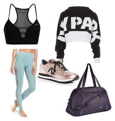 """""""sweet traning Outfit"""" by wilczekalyssa on Polyvore featuring Ivy Park, USA Pro, Topshop, NIKE and New Balance"""