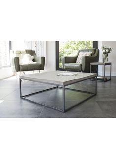 #CoffeeTableL aus #Beton und #Stahl von #LyonBeton. Jetzt bei #minimalinteria.de https://www.minimalinteria.de/lyon-beton/132-perspective-coffee-table-l.html