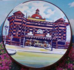 Parque de Bombas de Ponce plato cerámica. Hecho en España