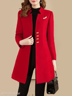 dress and coat outfit Suit Fashion, Fashion Dresses, Fashion Coat, Mode Costume, Office Outfits Women, Stylish Coat, Jackets For Women, Clothes For Women, Dress Coats For Women