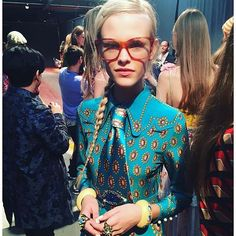 Put Down the Blow-Dryer! Enough With the Contour Already! Gucci's Geek-Chic Beauty Is a Breath of Fresh Air