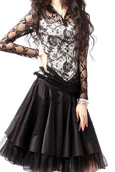 Exquisite Floral Lace Blouse with Lacy Standing Collar $102.00