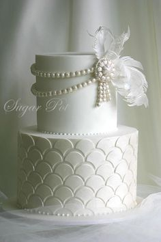Hochzeitstorten kinderschokolade Nobody has ever measured, not even the poets, how much the Heart can hold. - Zelda Fitzgerald - Cake by Priya Maclure: White Wedding Cakes, Beautiful Wedding Cakes, Gorgeous Cakes, Pretty Cakes, Amazing Cakes, Cake Wedding, Wedding White, Art Deco Wedding Cakes, Elegant Wedding