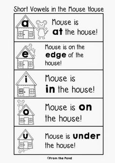 """""""Mouse House"""" Short Vowels (free)"""