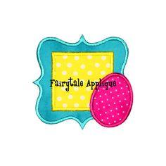 Digital Machine Embroidery Design - Easter Egg Frame Applique