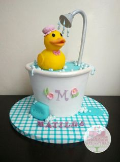 Rubber Ducky cake by Michelle Chan …See the cake: http://cakesdecor.com/cakes/219998-rubber-ducky-cake