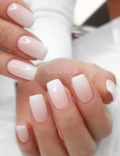 Beautiful Glittering Short Pink Nails Art Designs Idea For Summer And Spring - Lily Fashion Style Gradient Nails, Gradient Color, Short Pink Nails, Manicure Colors, Pink Nail Art, Hand Shapes, Basic Style, How Beautiful