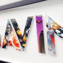 5 letters - Custom Superhero Alphabet Letters