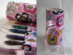 Crayon Roll  comes with 12 Pencil crayons  Perfect for by shusha64, $14.00