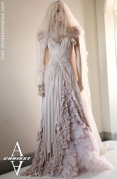 Medieval Style Dresses | Gothic Style Bride Dress by chrisst...Oh my word...what a lovely fantasy style wedding gown