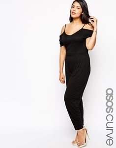 ASOS CURVE Jumpsuit With Cold Shoulder