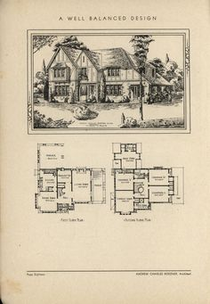 Well Balanced Design by Architect Andrew Charles Borzner.    The book of beautiful homes. by Andrew C. Borzner Published 1932    BookReaderImages.php (1213×1755)