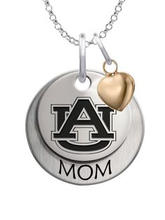 Auburn Tigers MOM Necklace with Heart Accent
