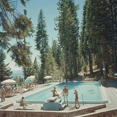 'Pool At Lake Tahoe' (Slim Aarons C-type Print) 1