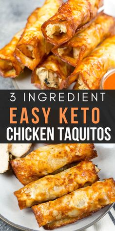 These Keto Buffalo Chicken Taquitos only have three ingredients can be made in under 10 minutes and have nearly no carbs! These Keto Buffalo Chicken Taquitos only have three ingredients can be made in under 10 minutes and have nearly no carbs! Ketogenic Recipes, Low Carb Recipes, Diet Recipes, Cooking Recipes, Healthy Recipes, Ketogenic Diet, Induction Recipes, Ketogenic Breakfast, Low Carb Chicken Recipes