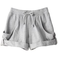 【ELLE SHOP】カバーアップヨガオーガニックショーツグレー|アディダス バイ ステラマッカートニー(adidas by Stella... ($96) ❤ liked on Polyvore featuring shorts, bottoms, pants, short, adidas, short shorts and adidas shorts