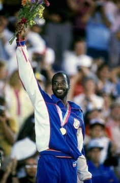 America track and field legend Edwin Moses participated in the 1976, 1984 and 1988 Olympics!